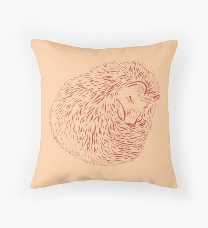 Sleeping Hedghog Throw Pillow