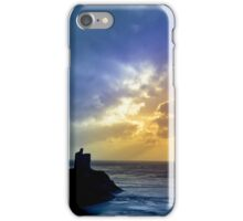 Castle and cloud beams iPhone Case/Skin