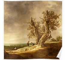 Landscape with Two Oaks - Jan van Goyen 1641 Poster