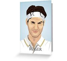 Roger Federer, the tennis superstar Greeting Card
