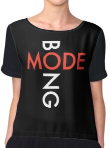 Mode Bong white DM logo Chiffon Top