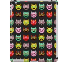 Cats with Mustaches iPad Case/Skin