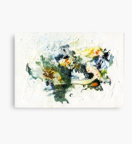 Blue, green and black abstract Canvas Print