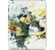 Blue, green and black abstract iPad Case/Skin