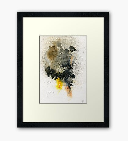 Black and orange abstract Framed Print