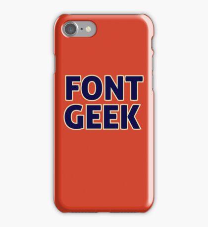 Font Geek iPhone Case/Skin