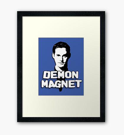 XANDER HARRIS: Demon Magnet Framed Print