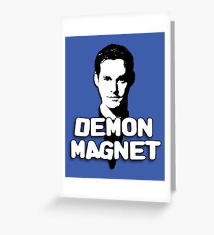 XANDER HARRIS: Demon Magnet Greeting Card