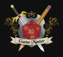 Game Master Red d20 Crest One Piece - Short Sleeve