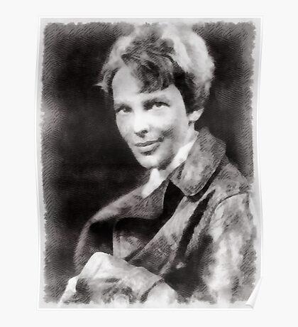 Amelia Earhart, Aviator Poster