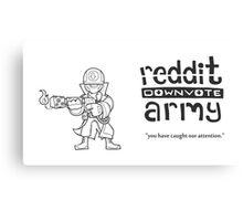 Reddit Downvote Army Flamer Canvas Print