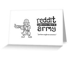 Reddit Downvote Army Flamer Greeting Card