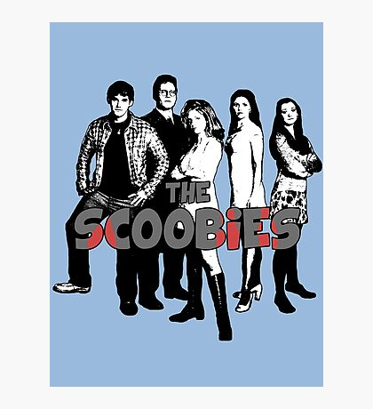 BTVS CAST (S1): The Scoobies! Photographic Print