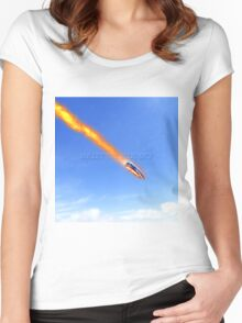 U2 bullet the blue sky Women's Fitted Scoop T-Shirt