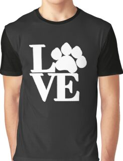 Love Dog Paw Funny Graphic T-Shirt
