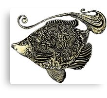 fish ornamental with texture Canvas Print