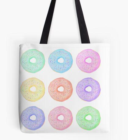 Watercolor donuts, sweet doughnuts Tote Bag
