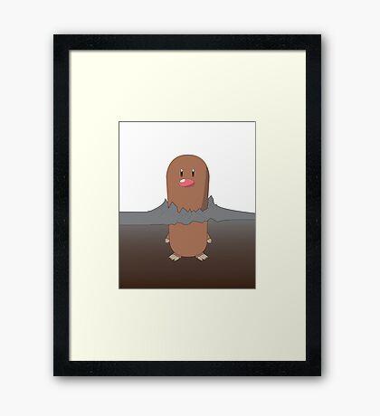Diglett pokemon Framed Print