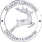 Season's greeting stamp by Marishkayu