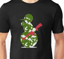snowman with gun funny Unisex T-Shirt