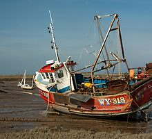 Whitby Crest at Brancaster Staithe by John Edwards