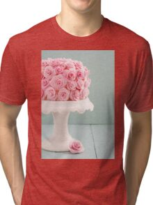 Cake with sugar roses Tri-blend T-Shirt