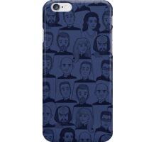 Star Trek Next Generation Characters Blue iPhone Case/Skin