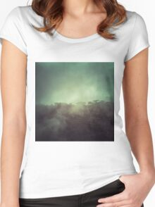 Mystery mountain Women's Fitted Scoop T-Shirt