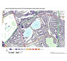 Multiple Deprivation Woodberry Down ward, Haringey Photographic Print