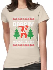 Dabbin Through The Snow Womens Fitted T-Shirt