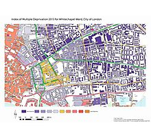 Multiple Deprivation Whitechapel ward, City of London Photographic Print