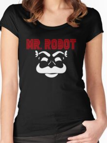 Mr robot f society Women's Fitted Scoop T-Shirt