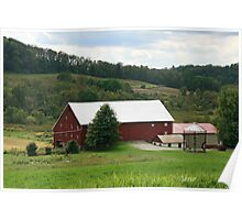 Red Barn Rural PA Poster