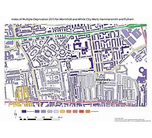 Multiple Deprivation Wormholt & White City ward, Hammersmith & Fulham Photographic Print
