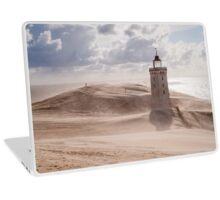 Sandstorm at the lighthouse Laptop Skin