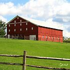 Red Pennsylvania Barn by Geno Rugh