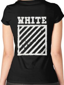 Off-White Brushed Diagonals v1 Women's Fitted Scoop T-Shirt