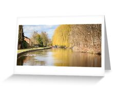Willow on the Canal Greeting Card
