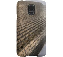 Gold and Gray - a Vertical View Samsung Galaxy Case/Skin