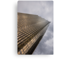 Gold and Gray - a Vertical View Canvas Print