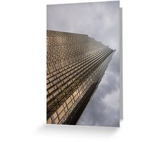 Gold and Gray - a Vertical View Greeting Card