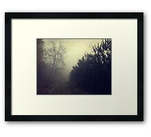 Drowning in the fog Framed Print