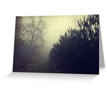 Drowning in the fog Greeting Card