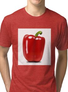 Eat food fruit pepper pimiento vegetables Tri-blend T-Shirt