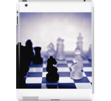 chess pieces in purple iPad Case/Skin