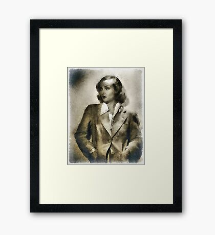 Carole Lombard Hollywood Actress Framed Print