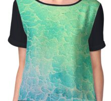 Tropical Water Chiffon Top