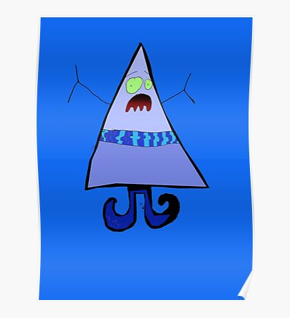 Mister Triangle Head Poster