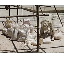 Masjed-e Shah restoration - plaster again Photographic Print