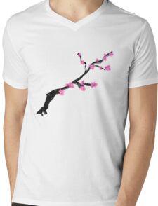 Sakura Blossom (in white) Mens V-Neck T-Shirt